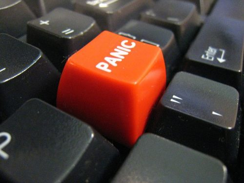 Panic Button hides your tabs on Chrome.