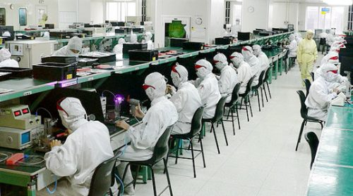 Apple's iPhone factory workers.