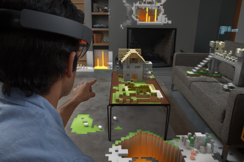 HoloLens allows you to project virtual objects into your environment.