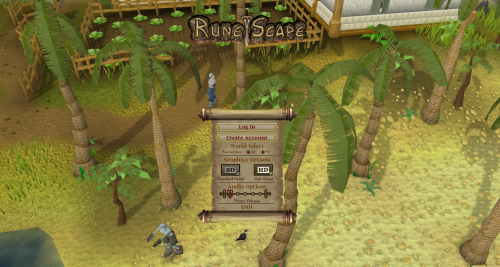 RuneScape login screen on a Chromebook.