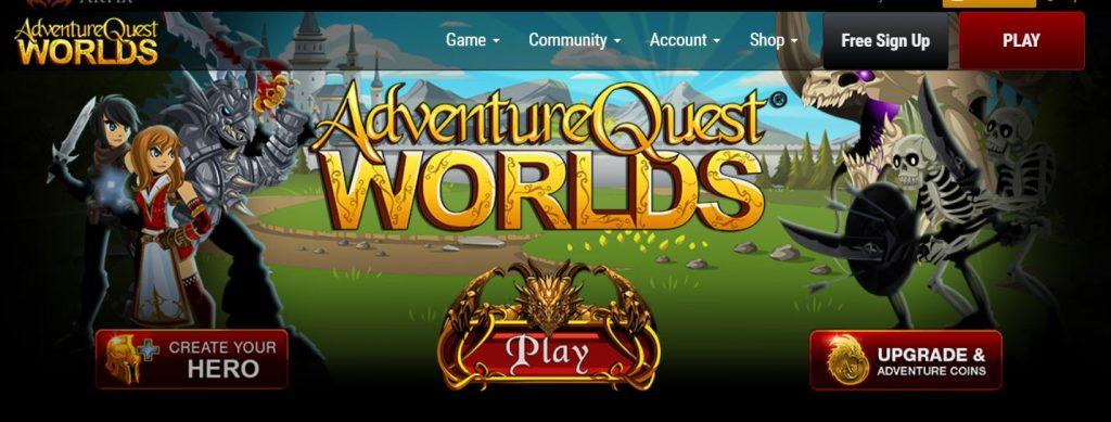 AdventureQuest Worlds on Chromebook.