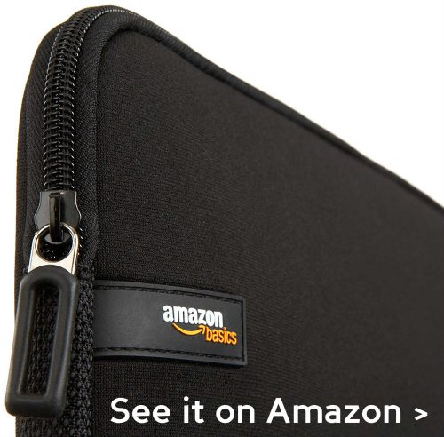 AmazonBasics laptop sleeve is very affordable.