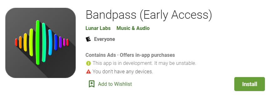 Bandpass app.