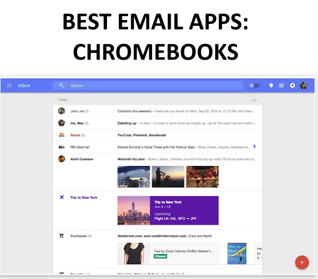 List of the best email apps for Chromebooks.