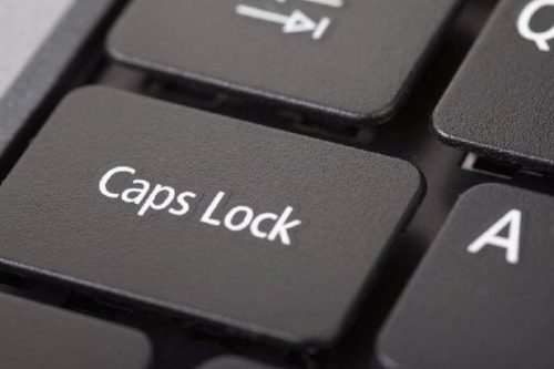 Chromebooks don't have a Caps Lock key.