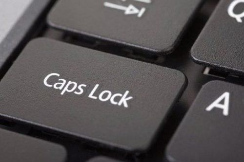 Chromebooks don't have a Caps Lock key.