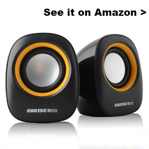 Cheap laptop speakers with good sound quality.