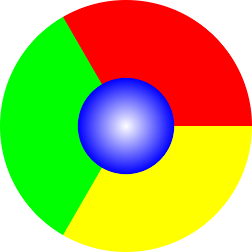 Spin the Chrome logo by clicking on it.