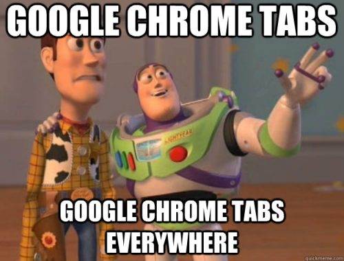 You can speed speed up your Chromebook by closing tabs, as shown by this Toy Story meme.