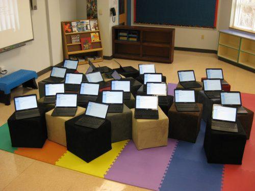 Chromebooks dominate the classrooms over Mac.
