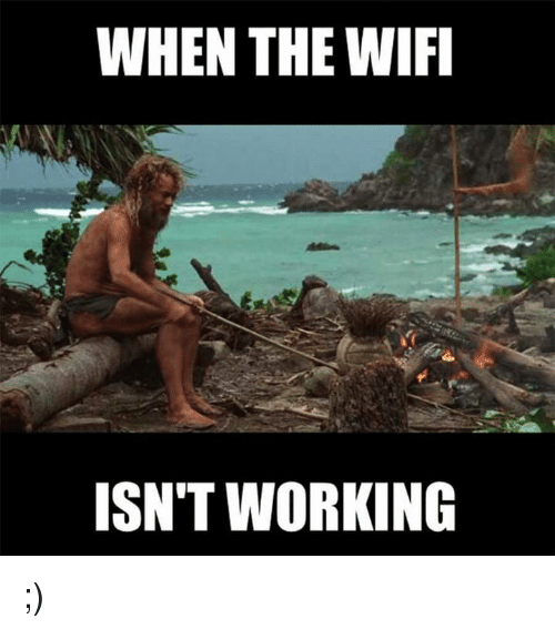 Internet connectivity meme.