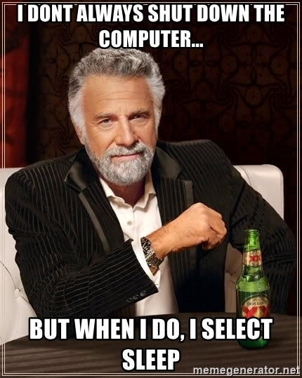 Chromebook shut down meme Dos Eques.