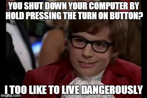 Chromebook shut down meme Austin Powers.