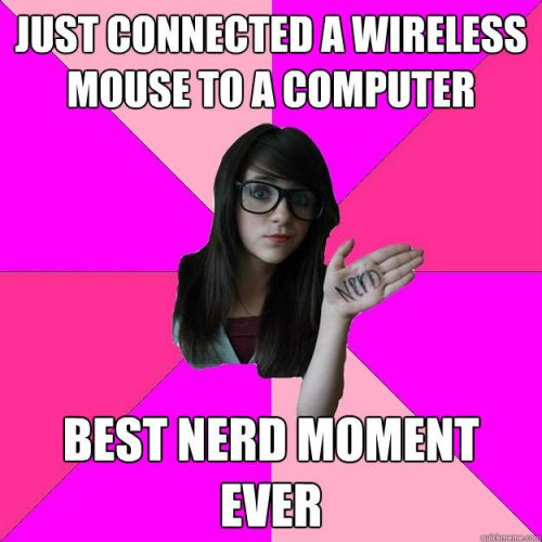 Laptop nerd meme.