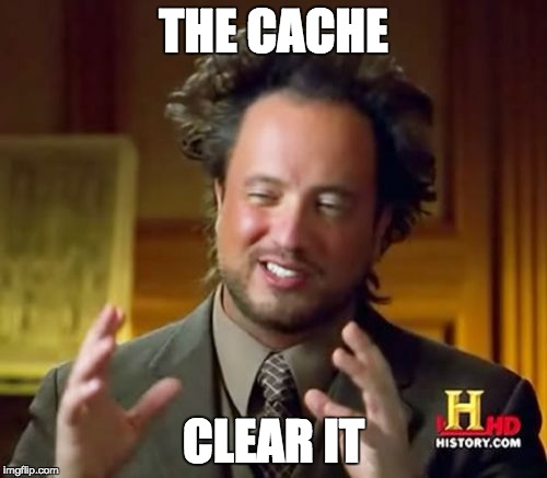Clear cache Chromebook meme.