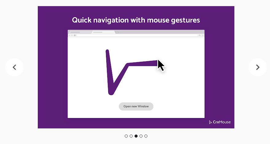 CrxMouse Gestures for Chromebooks lets you add commands with your mouse.
