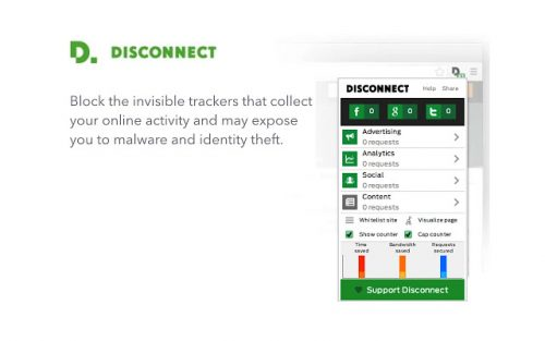 Disconnect is an app that hides your privacy online.