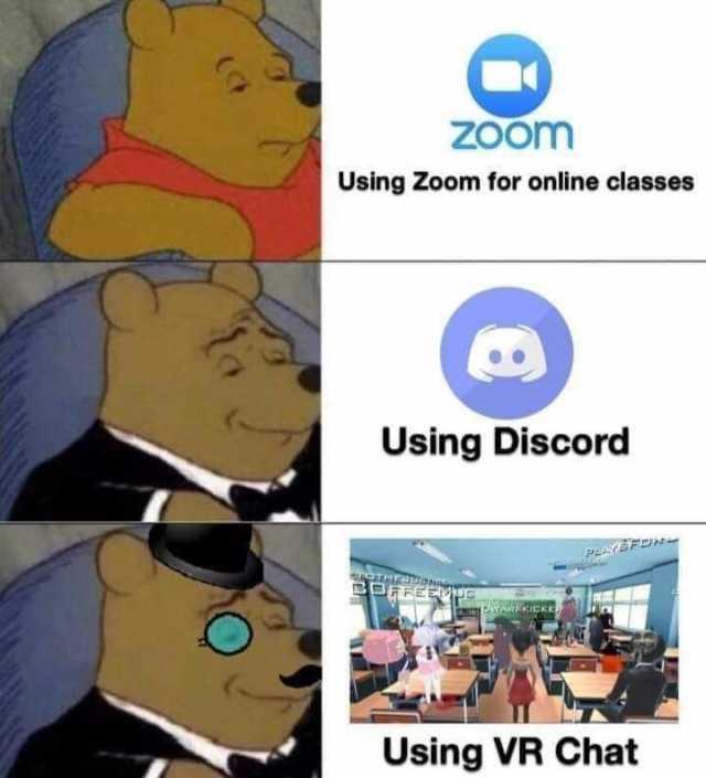 Discord on Chromebooks for school meme.