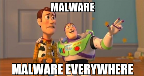 Chrome browser hijacker Toy Story meme.