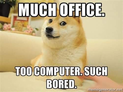 Doge bored meme.
