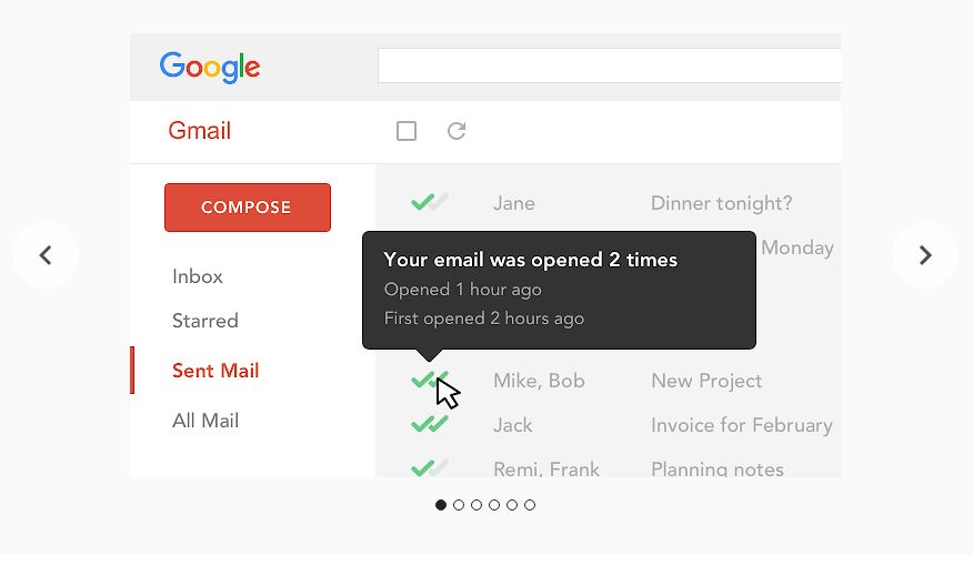 Email tracker shows you when your email was read by the recipient.