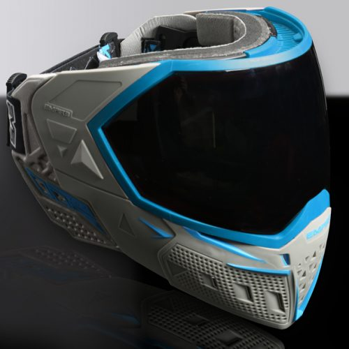 A paintball helmet with a HUD- the Empire EMS. (source)