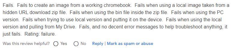How to fix Chromebook recovery tool not working.