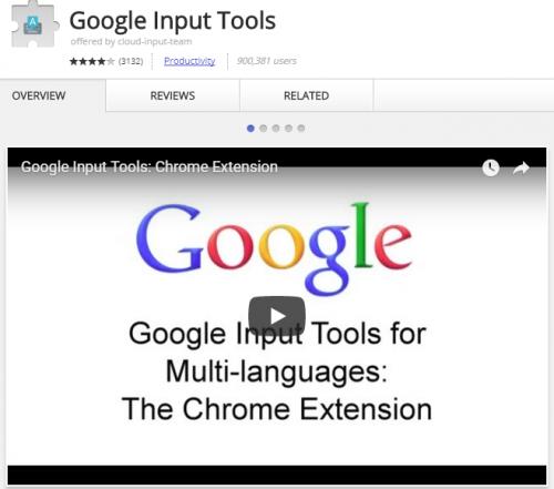 Language handwriting Chrome extension.