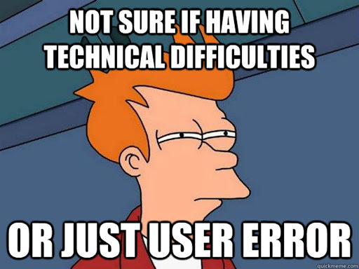 Fry user error meme.