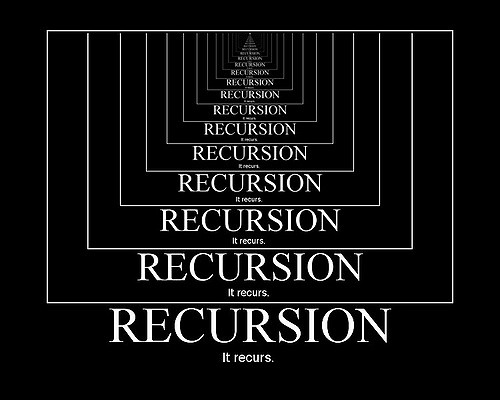Google recursion search easter egg.