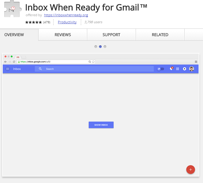 Inbox When Ready hides your Gmail inbox.