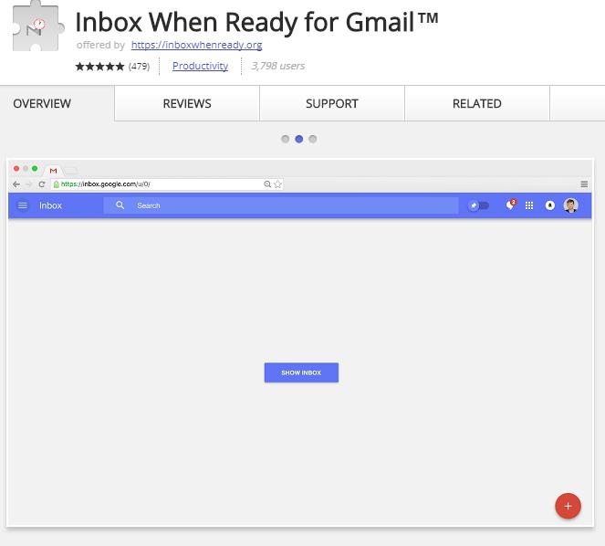 Inbox When Ready hides your Gmail inbox.