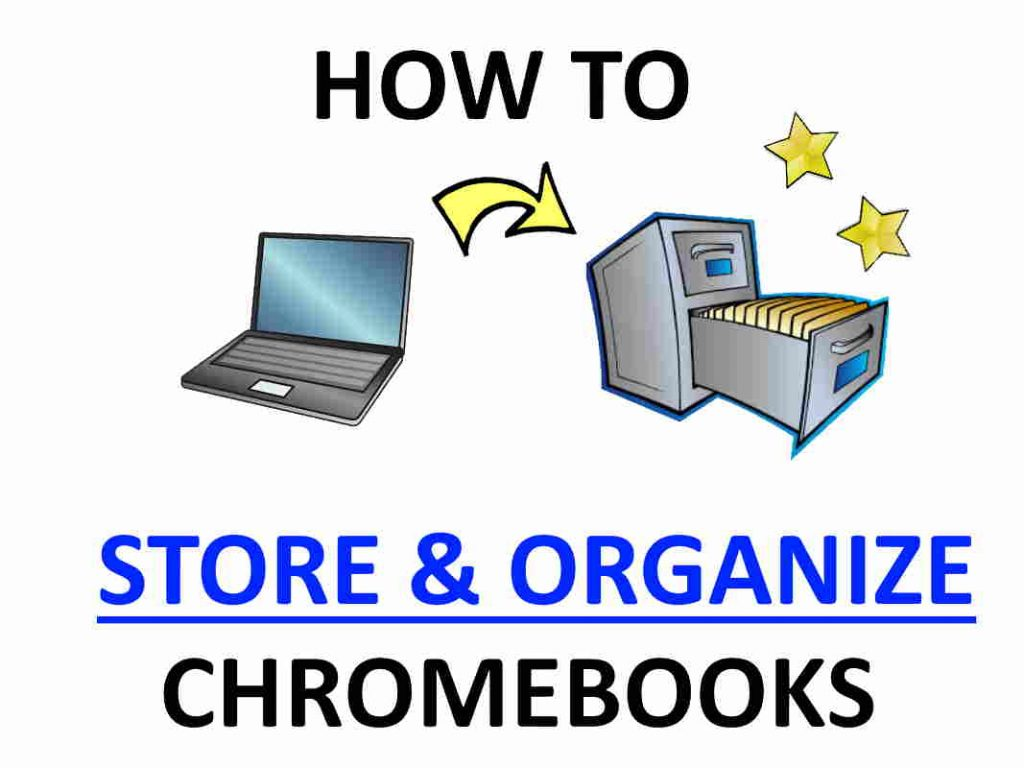 Store and organize Chromebooks for storage.