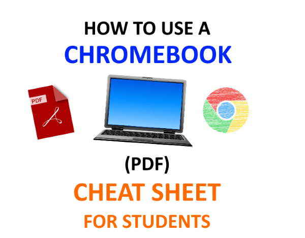 PDF for students how to use Chromebook cheat sheet.