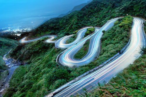 HP Chromebook default wallpaper city roads.