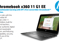 HP x360 Chromebook is a powerful laptop with a rugged design.