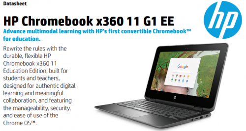 Meet the HP x360 Chromebook 11 G1. Get Specs and Price. (Hint: It's kind of a Beast.)