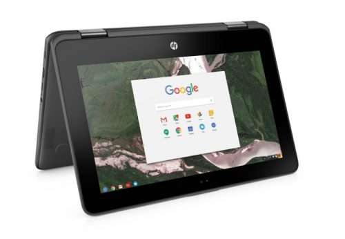 The HP x360 11 G1 Chromebook is built for students.