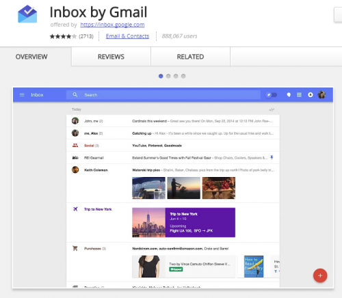 Inbox by Gmail is one of the best email apps for Chromebooks.