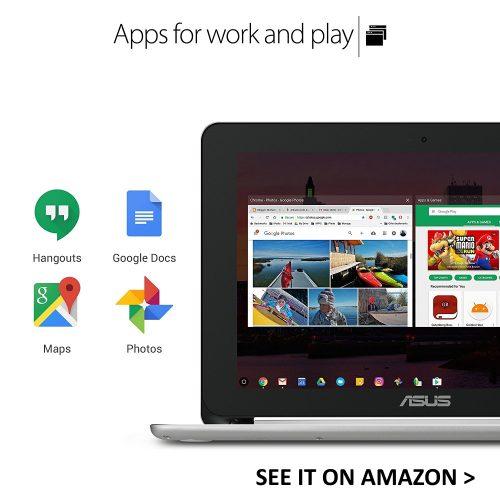 ASUS Flip runs Google Play Store apps.