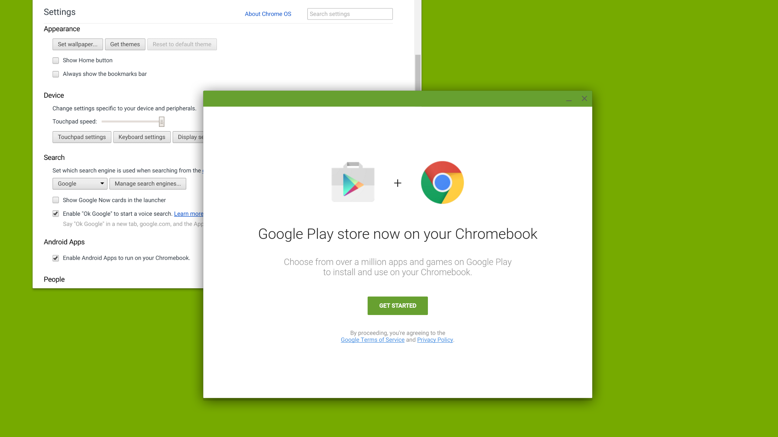 Google Play on Chromebook. Amazing.