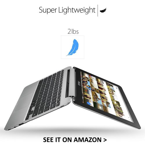 The ASUS Flip is a very lightweight Chromebook.