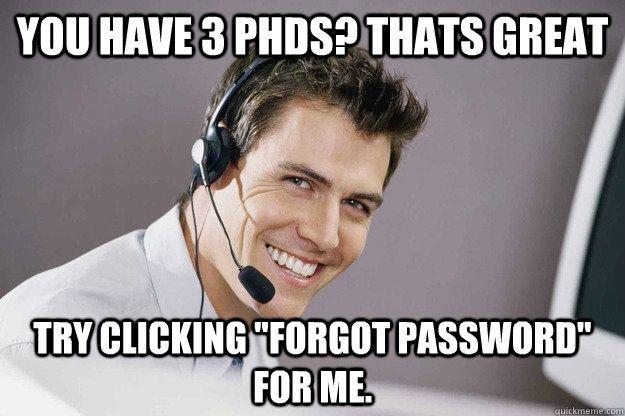 Tech support meme.