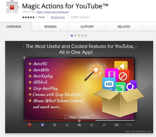 Magic Actions is one of the best Chrome extensions for YouTube.