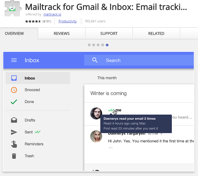 Mailtracker tells you if your email has been read.