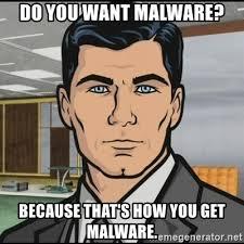 Computer malware meme.