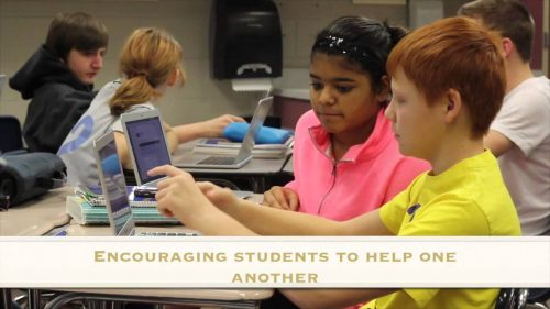 Chromebooks for education in the classroom encourage students to help each other.