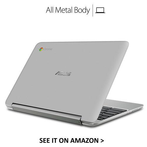 The ASUS Flip C101PA is an full metal aluminum Chromebook.