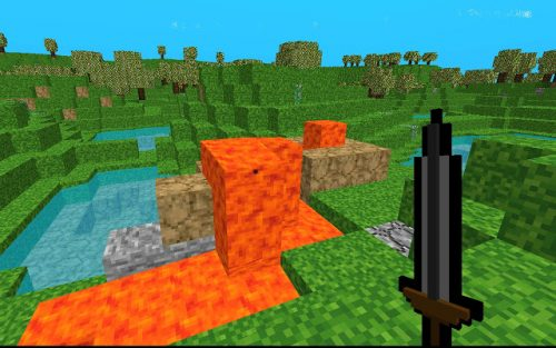 Voxel Craft is a free game like Minecraft.