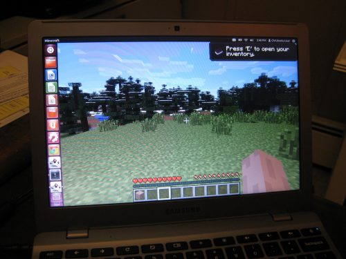 Play Minecraft on Chrome OS.